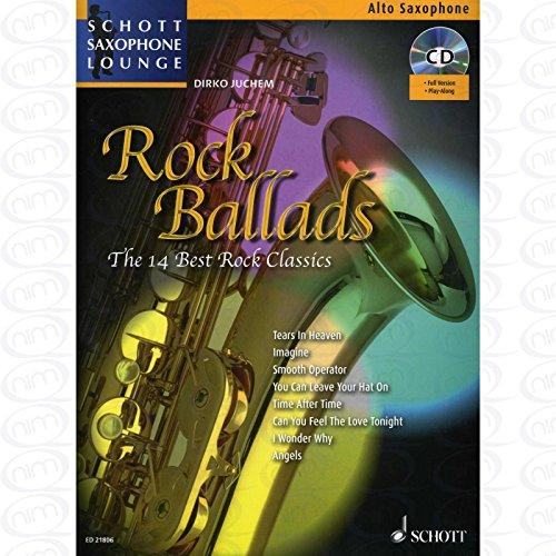 ROCK BALLADS - arrangiert für Altsaxophon - mit CD [Noten/Sheetmusic] aus der Reihe: SCHOTT SAXOPHONE LOUNGE