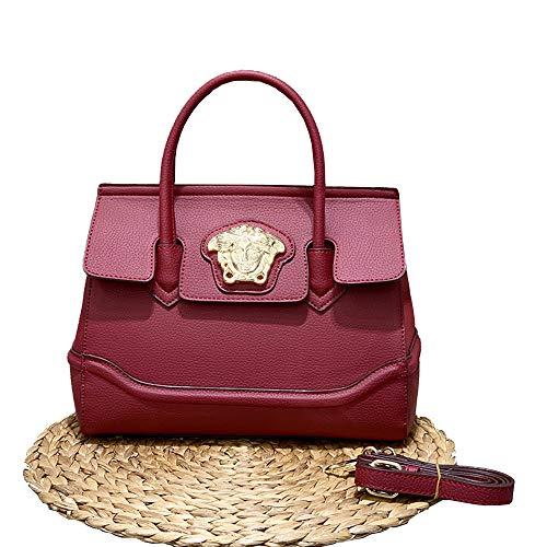 DULING Bolsos impermeables de cuero de la PU de la moda Bolsos, bolsos de hombro, bolso de hombro con la correa ajustable larga Bolso de mano de las señoras, para bolsos las mujeres o bolso compras