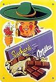 Vvision Suchard Milka Chocolat Blechschild Metall Plakat