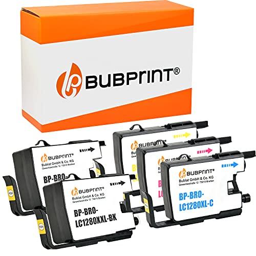 Bubprint Kompatibel Druckerpatronen als Ersatz für Brother LC-1280 XXL LC1280XXL LC 1280 XXL für MFC-J5910DW MFC-J6510DW MFC-J6710DW MFC-J6910DW BK/C/M/Y 5er-Pack