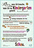 Alles, was ich brauche, habe ich im Kindergarten gelernt: DIN-A1 Plakat für Krippe, Kindergarten & Kita (Poster für die Öffentlichkeitsarbeit in Kitas & Gr&schulen)