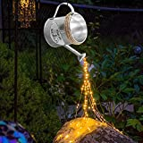 Luces de regadera con energía Solar, Innovador Ramo de Hadas de Cascada Luces LED lámpara de Ducha de Hierro con Soporte Alambre de Cobre Cuerda Impermeable para Patio jardín Decoraciones navideñas