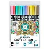 SKULLPAPER Sketchpen Set (02-12 colores pastel)