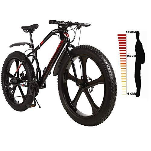LXDDP 4.1 in Mountain Bike con Pneumatici Larghi, Freno a Doppio Disco 21/24/27 Bicicletta a velocità variabile, Ruota della Torre di Posizionamento Bike Altezza Adatta: 160-185 cm