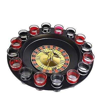 LTLWSH Jeu de Roulette à Boire Roulette Russe 16 Verres 2 Boules à Shots Jeu d'alcool soirée
