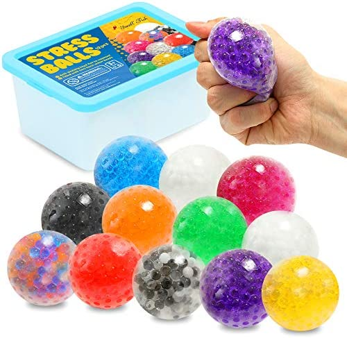 Sensory Stress Ball Toy Set for Kids and Adults 12 Pack Stress Relief Fidget Balls Filled with product image