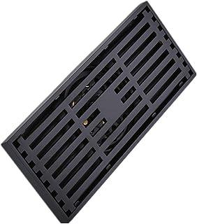 ステンレス製シャワー床排水 銅バスルームの床ドレンとガーデンデザイン取り外し可能なアンチブロッキング水流制御抗昆虫大消臭床ドレン ステンレス鋼の正方形のバスルームの床ドレン (色 : ブラック, サイズ : 20 x 8.3 x 4.3 cm)