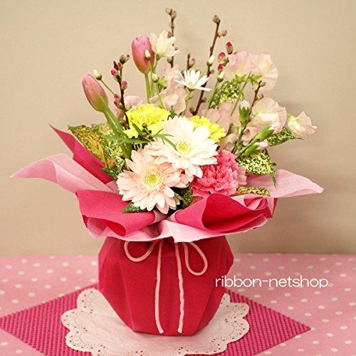 ひなまつり 生花 花束 そのまま飾れる 花桃と春のお花のスタンディングブーケ FL-HM-227