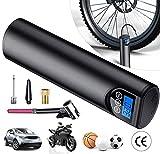 4YANG Bomba eléctrica para inflar neumáticos Mini inflador de neumáticos con Bomba de Aire portátil 150PSI con Juego de adaptadores y luz LED para Bicicleta Moto Neumáticos Bola