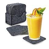Untersetzer Gläser 12er Set, Joyoldelf Glasuntersetzer Set Untersetzer Filz Getränkeuntersetzer Waschbar Coasters für Tassen, Getränke, Bar, Glas
