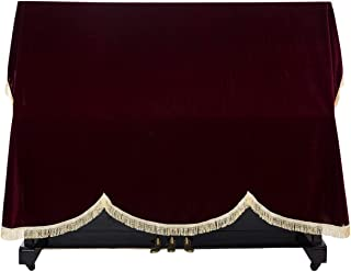 Timiy Upright Piano Dust Cover for standard vertical pianos (Deep Red)
