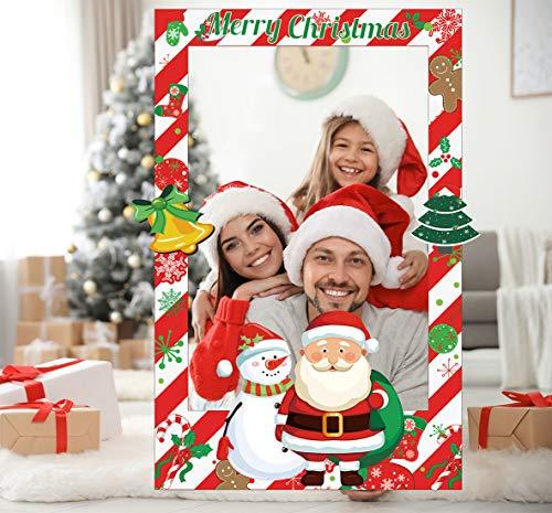 Sayala 3Pezzi Buon Natale Selfie Puntelli frame Photo Booth Props Accessori per Natale Nozze Festa di Capodanno Forniture decorazione