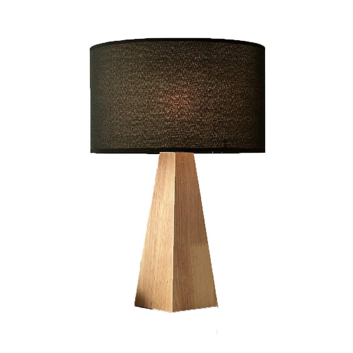 北へ火炎飛行機ZEZHOU 純木のベッドサイドランプの暖かい装飾の寝室の研究ランプ簡単なヨーロッパの創造的な木の北欧の卓上スタンド (色 : B)