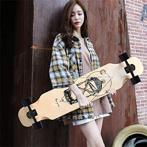 TYXTYX Skateboard per Principianti,Longboard Skateboard Dancing, Cruising, Curving, Freeride Slide, Freestyle e Downhill Freestyle Cruiser per Adulti