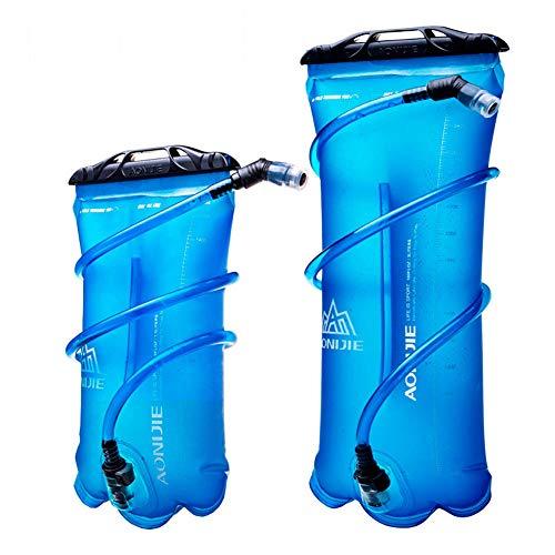 WANGIRL Sac a Boire Vélo Sport Course Poche D'hydratation en Plein Air Escalade Sac a Dos Pliant Sac d'eau,1.5l