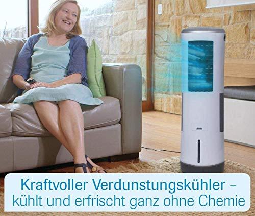 Livington InstaChill – Klimagerät mit Verdunstungskühlung – mobiles Klimagerät mit 3 Stufen – Klimagerät ohne Abluftschlauch 12h Kühlung mit 8,5 L Tank - 2