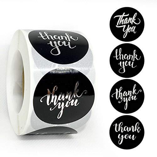 500 stks/roll Zwarte DIY Dank U voor Uw Bestelling Stickers, Bruiloft Handgemaakt met Liefde Ronde Seal Labels Scrapbooking Pakket Kantoorbehoeften