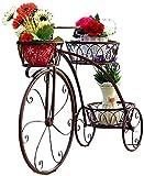 Decorativo Soporte de Exhibición de Bicicletas, Soporte de Maceta de Flor, Soporte de Maceta, 3 Pisos Metal Plant Stand, para Decoración Exterior Interior Jardín Baño