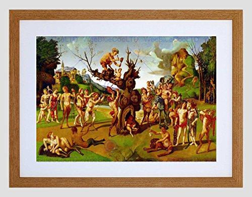 Wee Blauwe Coo Schilderij Allegorie Griekse Mythologie Di Cosimo Bacchus Honing Omlijst Muur Art Print
