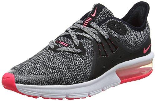 Nike Air Max Sequent 3 GG, Scarpe da Corsa Donna, Nero (Black/White/Racer Pink 001), 38.5 EU