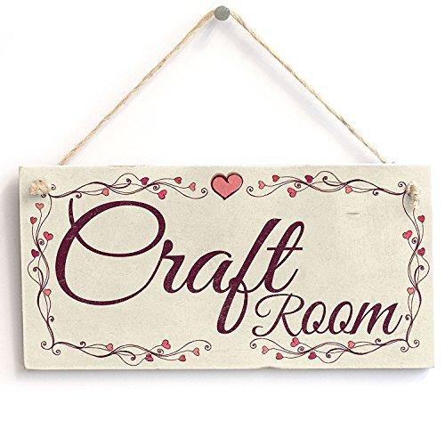 Meijiafei Craft Room - Heart Design Rustic PVC Sign/Plaque 10