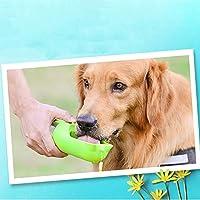 ポータブルペットウォーターボトル ペット用カップ付きポータブルウォーターカップ400ml大型犬用 歩行用ペットボトル (色 : 緑)