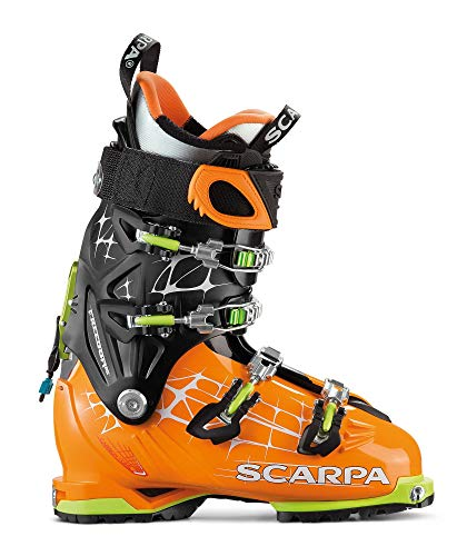 Scarpa M Freedom RS oranje-zwart, heren alpine skischoen, maat EU 47 - kleur oranje - zwart