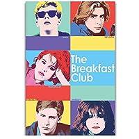 朝食クラブレトロヴィンテージクラシック映画キャラクターカバー絵画キャンバス壁アートポスターリビングルームの装飾のための写真キャンバスに印刷50x70cmフレームなし