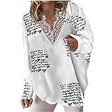 Maglione da donna a maniche lunghe, con scollo a V, stile...