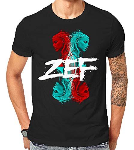 Zef Lifestyle Die Cool No Regrets Antwoord Gift T-Shirt Weihnachten (Medium)