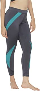 Lovable Women Girls Polyester Bottoms Sports Tights in Grey Color -Pacer-Steel Grey