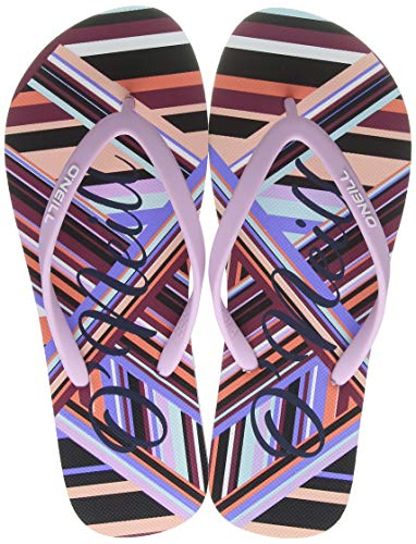 O'Neill Fw Profile Graphic Sandals Chancleta Para Mujer, Mujer, White Aop W/Red, 39