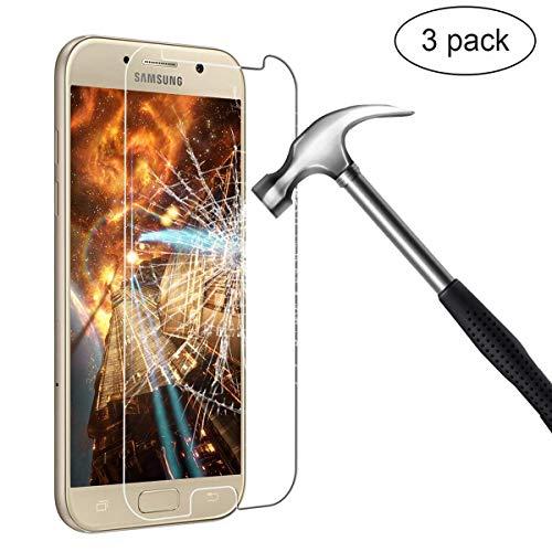 LCD Samsung Galaxy A5 2017 Pellicola Protettiva,BIGMEDA A5 2017 Crystal Film Vetro Temperato Pellicola Protettiva Glass[Anti-riflesso][Case Compatibile]Protezione Schermo Screen Protector per Galaxy A5 2017(3 Pezzi)
