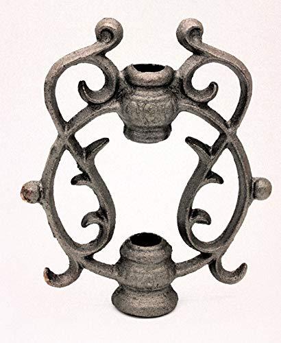 UHRIG ® Ornament Rosenstab schmiedeeisen Deko Garten Eisenguss für Zaun Geländer #638