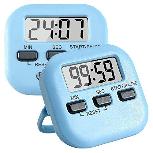 POWER BANKS Küchentimer Digitaler Küchentimer Magnetischer Countdown-Timer mit lautem Alarm, Hinterradaufhängung, Badezimmer, Kinder (2er-Pack)