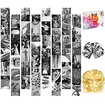 Wall Collage Kit Black White Aesthetic Pictures...