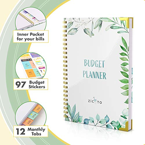 Product Image 3: Simplified Monthly Budget Planner – Easy Use 12 Month Financial Organizer with Expense Tracker Notebook – The 2021 Monthly Money Budgeting Book That Manages Your Finances Effectively
