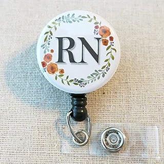 RN Nurse BADGE Reel, RN Nurse Thank You Gift, ID Badge Holder, Nursing Grad Gifts, Registered Nurse RN Graduation Gift, Nurse Appreciation Gift