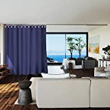 Room/Dividers/Now Premium Room Divider Curtain, 8ft Tall x 10ft Wide (Harbor Blue)