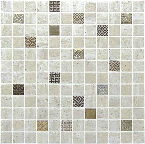e-ceramica 8436028848751 Mosaico Cristal Beige