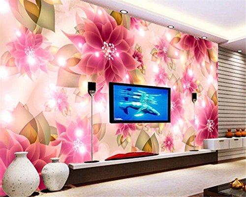 Mznm Papel De Parede Mode Romantisch Roze Fantasie Wallpaper Dazzling Kleurrijke Tv Achtergrond Wallpaper Voor Muren 3 D Behang 120x100cm