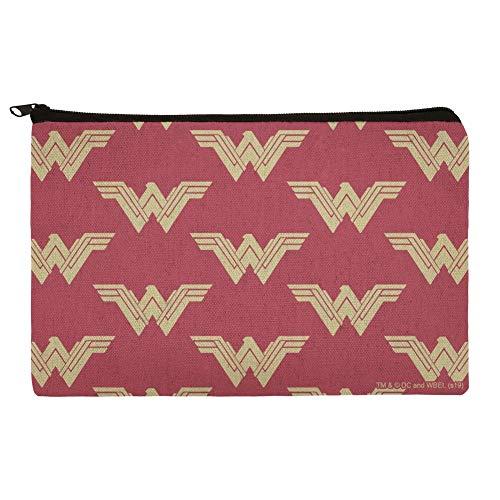 Kosmetiktasche/Organizer, Motiv: Wonder Woman, mit rotem Logo, Rot