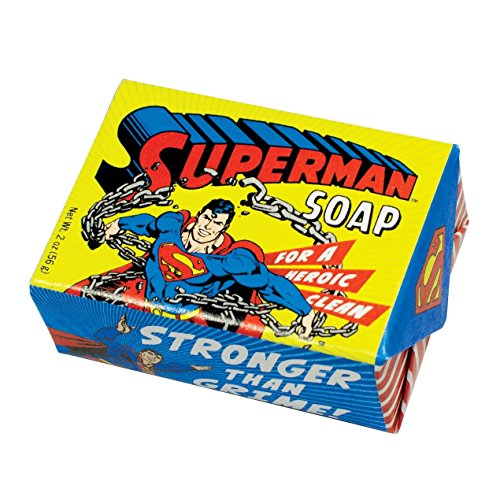 DC Comics Superman Soap - 1 Mini Bar of Soap - Made in The USA