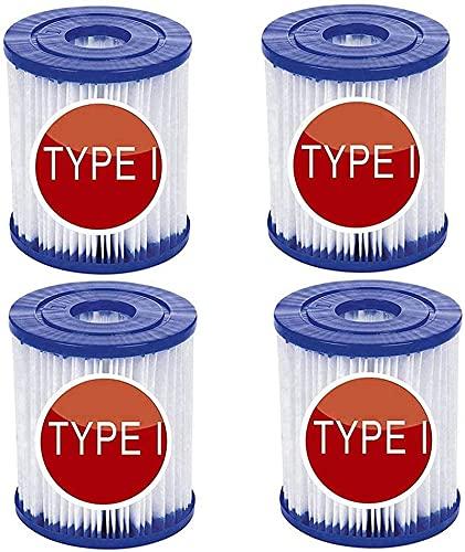 SHUAIG Filtro per for Bestway Tipo I,Elemento filtrante I,Ricambio per cartucce filtranti,Cartucce filtranti per Piscina,Filtro Piscina Tipo I,Ricambio per filtri Spa (4pezzi)