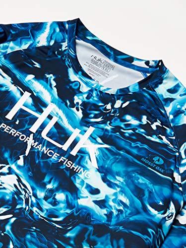 Huk Men's Mossy Oak Pursuit Long Sleeve Shirt | Camo Long Sleeve Performance Fishing Shirt With +30 UPF Sun Protection, Mossy Oak Hydro Sailfish, 3X-Large