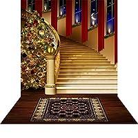 床–Holiday階段写真バックドロップwith–10x 20ft。–100%シームレスなポリエステル