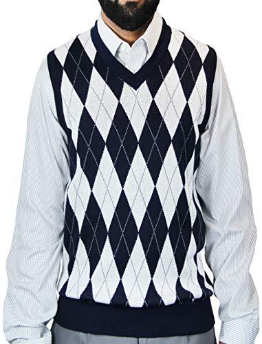 Blue Ocean Big Men Argyle Jacquard Sweater Vest Navy XXXXX-Large