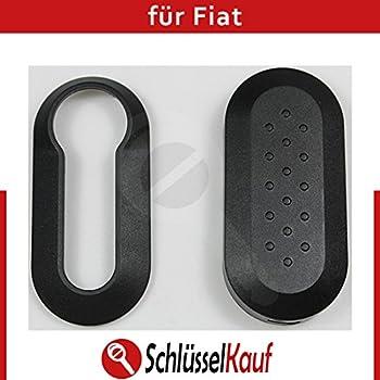 NEU Autoschlüssel Schale Weiß Schutzhülle passend für Fiat Punto 500 Bravo Dablo
