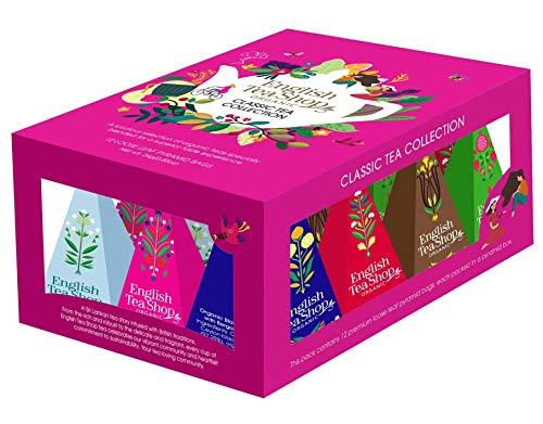 English Tea Shop Surtido de tés y tés de hierbas con sabores clásicos en caja de regalo - 1 x 12 pirámides de té (24 gramos)