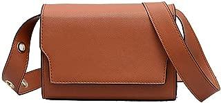 Waymine Women's Shoulder Bag Strap Retro Versatile Solid PU Square Phone Coin Messenger Bag